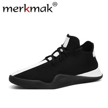 Merkmak 2019 Spring New set of foot casual shoes men breathable Korean version of fashion black and white shoes men's shoes