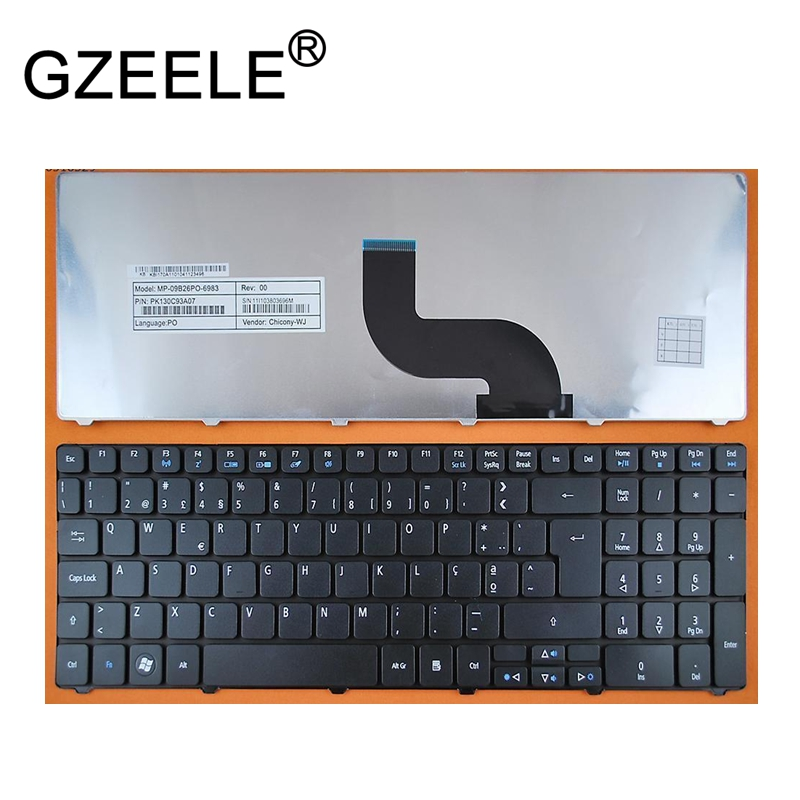 GZEELE Portuguese keyboard For <font><b>Acer</b></font> <font><b>Aspire</b></font> 7741 7741G 7745G 8942 <font><b>8942G</b></font> 5820 5820G 5820T 5820TZ 5820TG 5820TZG 7745Z Laptop PO image
