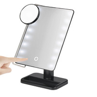 1pc 10X Magnifier LED Illuminated Makeup Mirror Cosmetic Vanity Mirror Touch Screen New Arrival 17F15