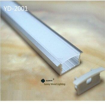 10-30 шт. 2 м алюминиевый профиль, двухсветодио дный рядный светодиодный профиль, встроенный светодио дный светодиодный Трек, молочный/прозрач...