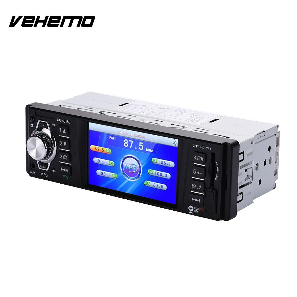 Vehemo Car MP5 Car Video Player MP5 Player Colourful Backlight 4018B Premium Stereoscopic Sound Effect Music Player
