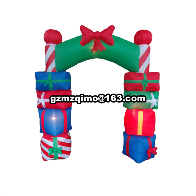 6m Inflatable Gift Christmas Arch Inflated with Printing for Christmas/New Year6m Inflatable Gift Christmas Arch Inflated with Printing for Christmas/New Year