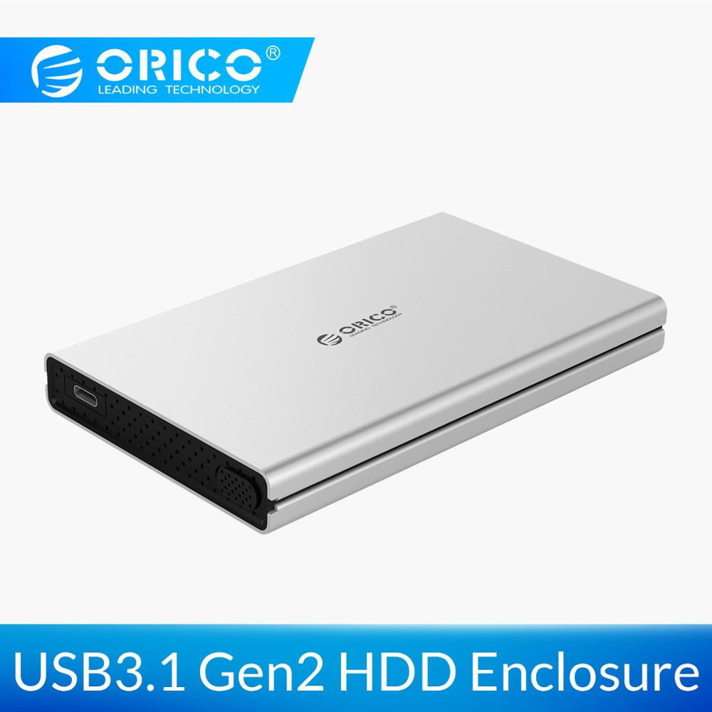 ORICO 2.5 inch HDD Case USB 3.1 Gen2 To SATA 3.0 10Gbps Super Speed Type C Hard Disk Drive Box External HDD Enclosure Free ToolsORICO 2.5 inch HDD Case USB 3.1 Gen2 To SATA 3.0 10Gbps Super Speed Type C Hard Disk Drive Box External HDD Enclosure Free Tools