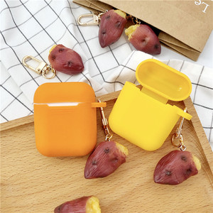 Image 3 - New Cute Sweet Potato Decorative Silicone Case for Apple Airpods Case Accessories Protective Cover Bluetooth Earphone Key Ring
