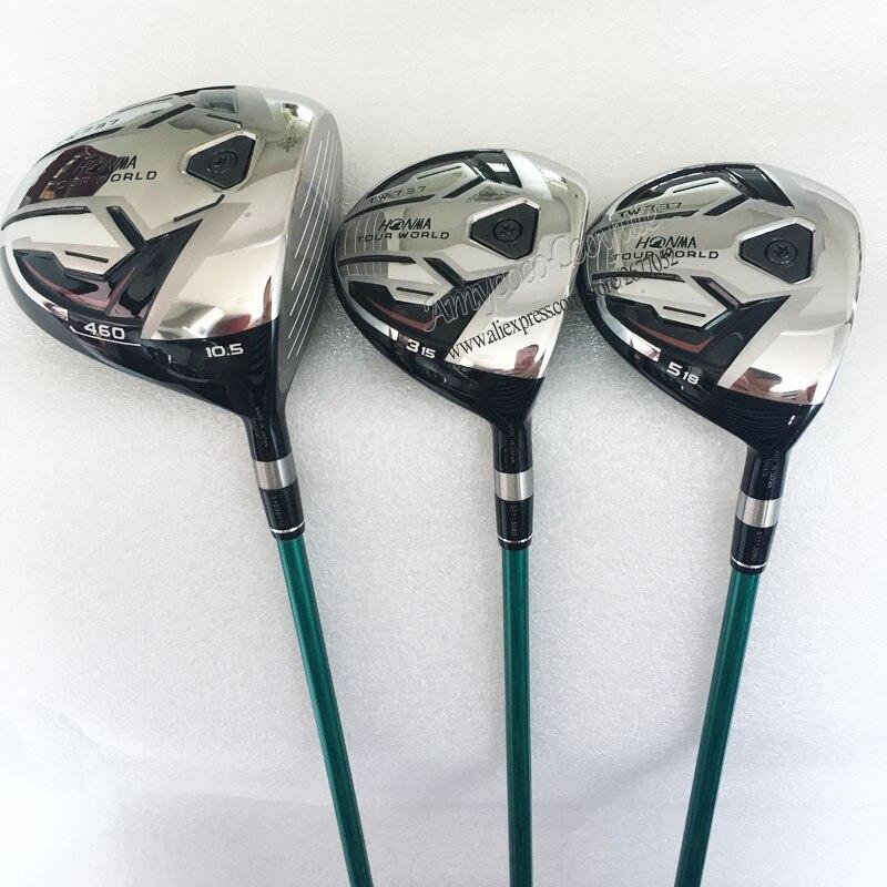 Cooyute новый гольф клубов Хонма TW737 460 гольф дерево набор 1.3.5.wood клубов Хонма Гольф графита вала и древесины шлем Бесплатная доставка