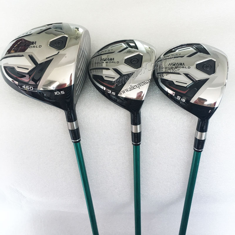 Cooyute Nuovo Golf clubs HONMA TW737 460 Golf legno Set 1.3.5.wood Club HONMA Golf pozzo della grafite e legno headcover Spedizione gratuita