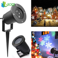 Outdoor Snowflake LED Stage Light Garden Moving Snow Laser Projector For Christmas Tree Party Wedding Decoration