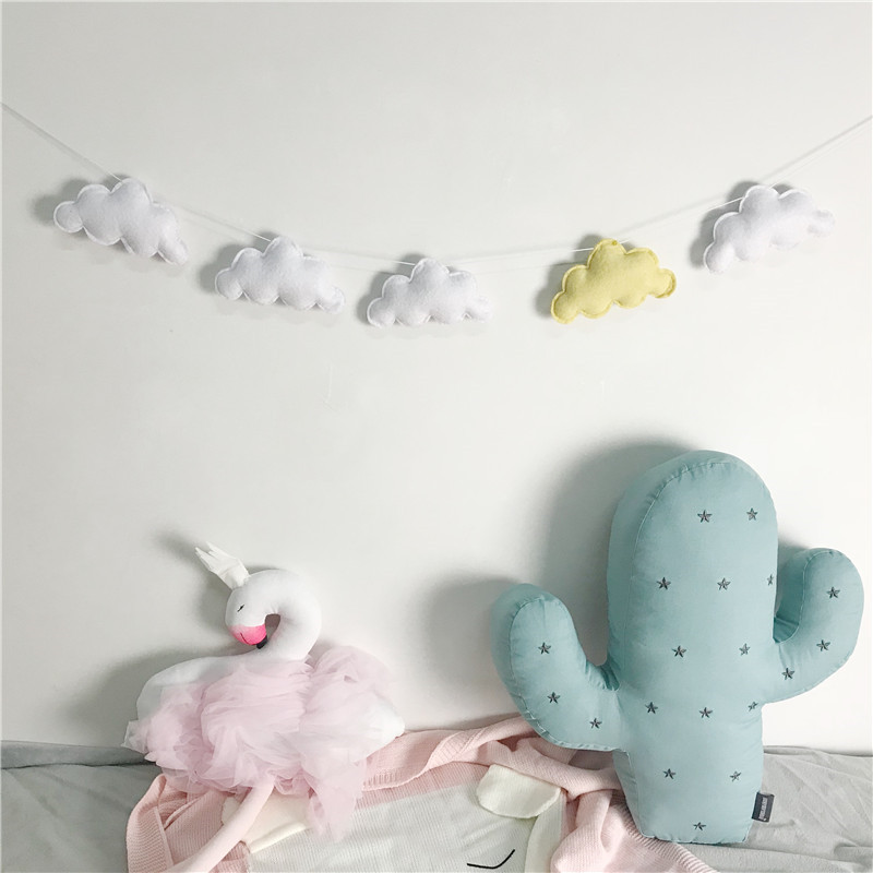 5PC-Set-Hot-Sale-Felt-Cloud-Garland-Party-Banner-Kids-Room-Nursery-Hanging-Wall-Decor-Christmas