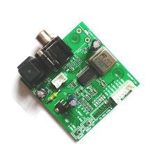 SPDIF coaxial fiber WM8805 receiver board, I2S output aligned output 5v 12v sampling frequency 32KHZ ~ 192KHZ