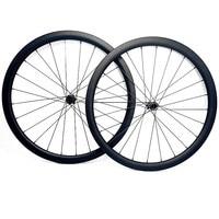 Rodas de carbono 700c rodas de bicicleta estrada 38x25mm sem câmara cyclocross frente 100x12 traseira 142x12 bloqueio central roda de disco de carbono