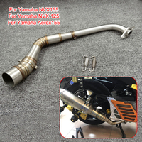 for Yamaha Aerox 155 NVX 155 NVX 125 Scooter modified Muffler Exhaust System Middle link Pipe Tube Escape exhaust Slip On Aerox