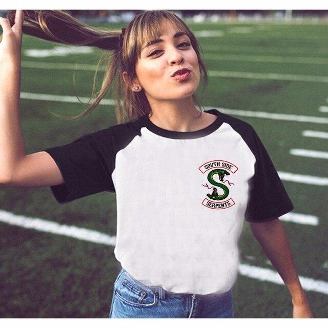 30 Types De Riverdale T Shirt Femmes Tops D Ete Southside Serpents