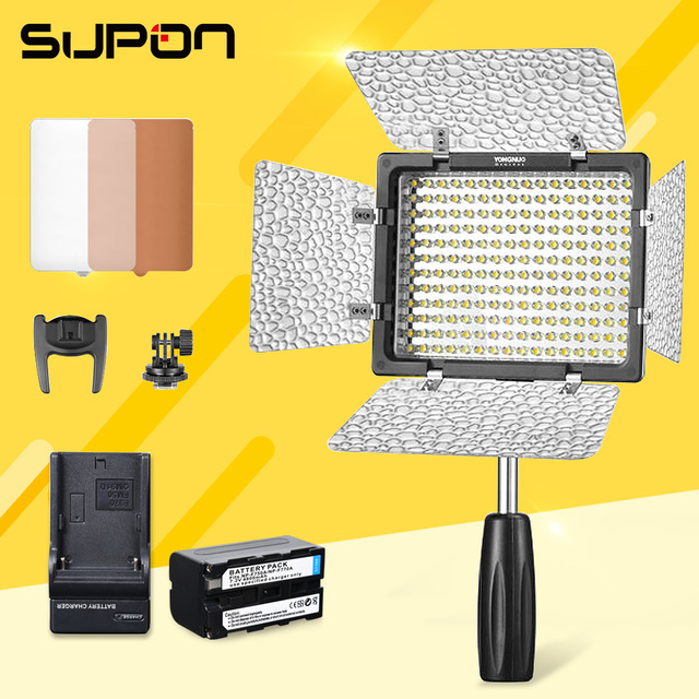 Yongnuo YN160 III 3200-5500K CRI95 160 LED Adjustable Luminance Video Light fr Can Nik Son DSLR & Camcorder DV+1*NP-F750 Battery накамерный свет yongnuo led yn 160 iii 3200 5500k