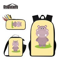 Unique Design Cartoon Animal Prints on Schoolbag for Girls So Beautiful Backpacks with Lunch Box Bag and Pencil Case Combination