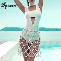 Bqueen 2017 Hollow Out Choker Strapless Halter Bandage Women Bodysuit Bodycon Summer Jumpsuits Wholesale