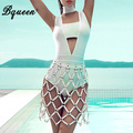 Bqueen 2017 new oco out moda gargantilha projeto strapless bandage bodysuit
