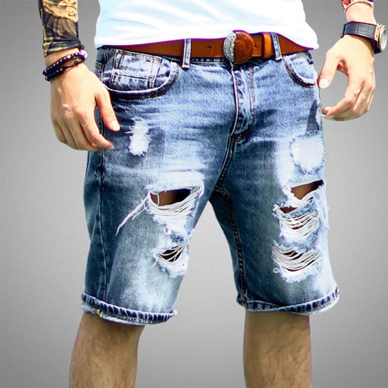 Mens Shorts Jeans Regular Casual Curta Na Altura Do Joelho ...