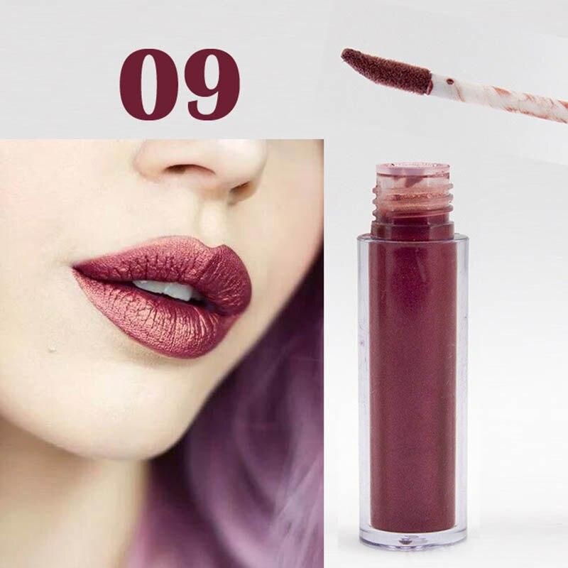 Women Fashion Glitter Lipstick Diamond Shine Lips Makeup Metallic Matte Lip Stick Lasting Waterproof Lipsticks 11