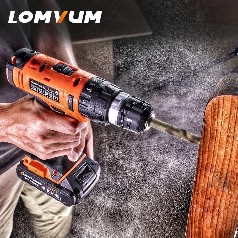 LOMVUM 20V電気充電式多機能コードレスドリル1500 - パワーツール - 写真 5