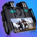 6 dedos de funcionamiento teléfono móvil controlador Gamepad con ventilador de refrigeración enfriador para iOS Android Smartphone Joystick Cooler batería