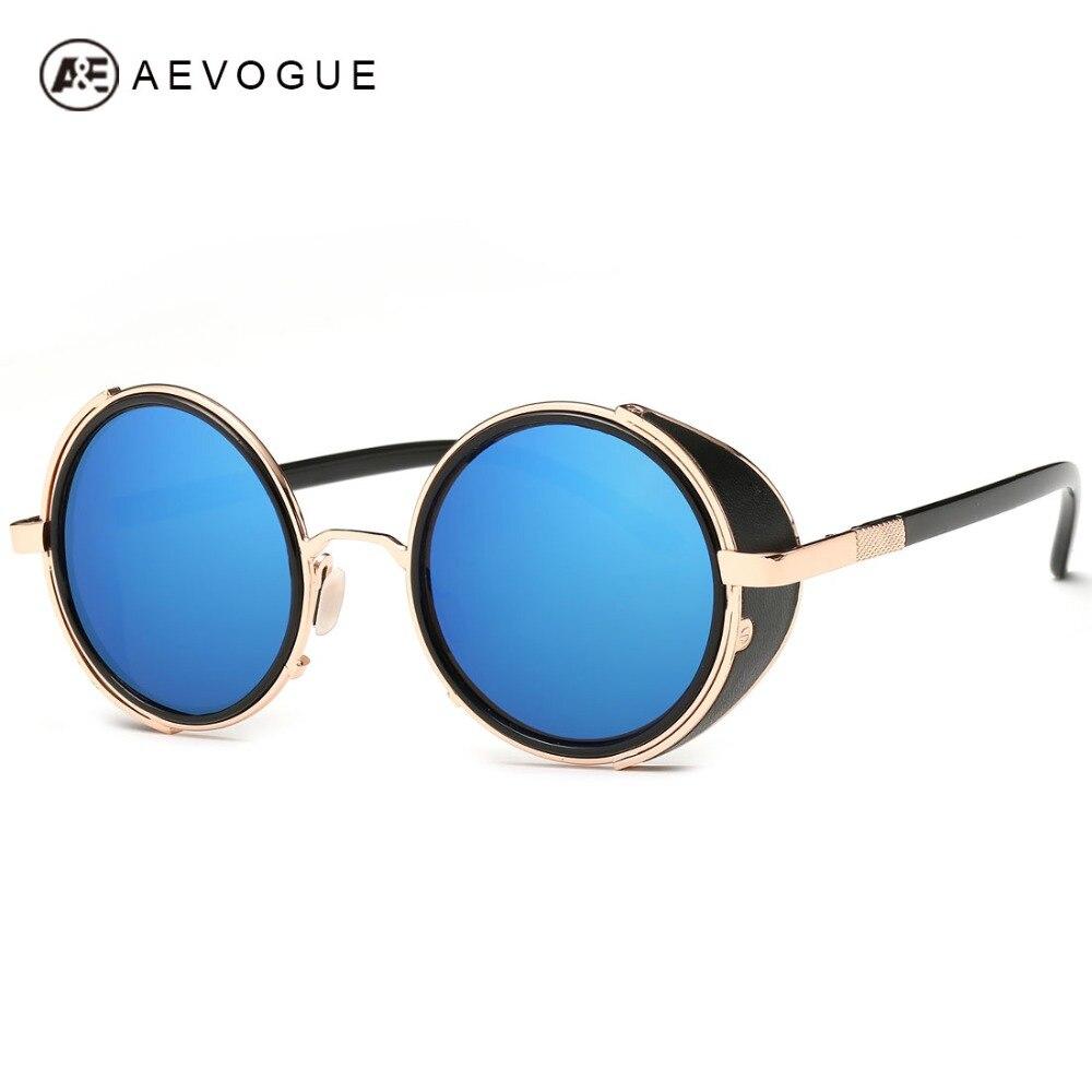 AEVOGUE Rétro Marque Design Lunettes de Soleil Hommes Punk Style 9 Couleurs  En Métal Cadre lunettes de Soleil Lunettes Oculos De Sol UV400 AE0040 138dcd16266c
