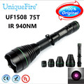 UF-1508 Infrared 940nm LED Hunting Flashlight Led Torch Night Vision With 38mm 50mm 67mm 75mm 4 Lenses To Choose Free Shipping