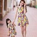 Vestido 2017 de Moda de Nova Mãe e Filha Vestidos de FAMÍLIA, roupas Da Família de verão Meninas Múmia, vestido colorido crianças