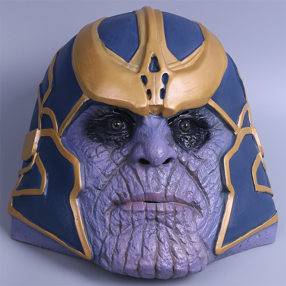 2018 Avengers Infinity War Mask Thanos Mask Cosplay Full Head Latex Super Hero Costume Halloween Party Prop (1)