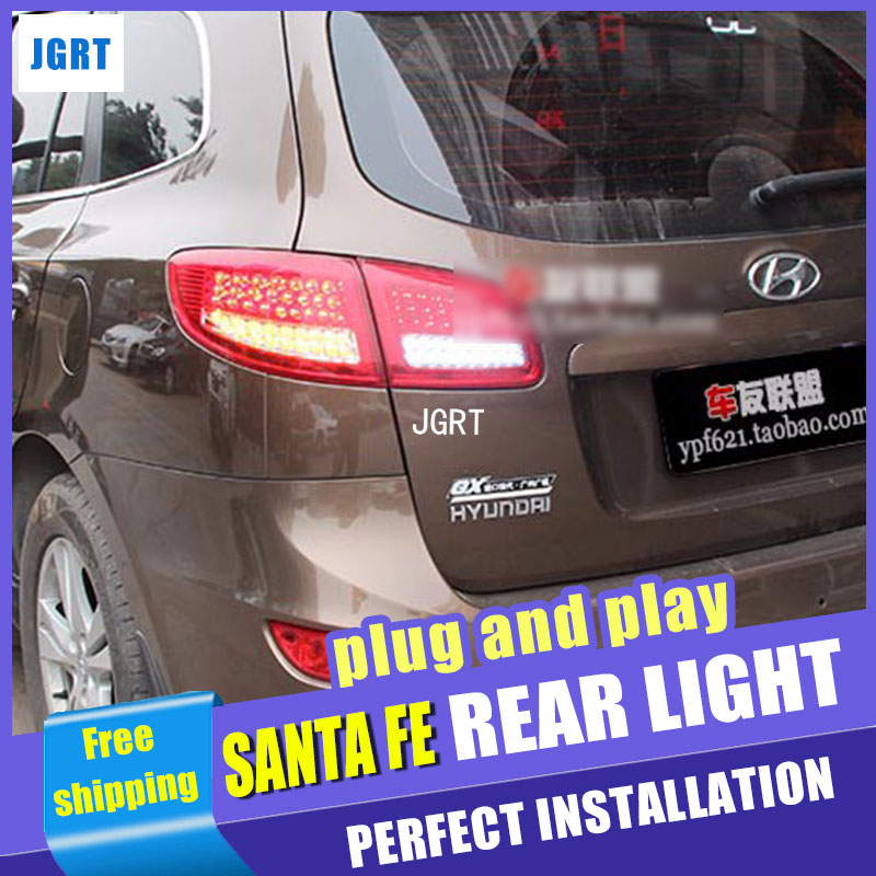 A&T Car Styling for Hyundai Santa Fe LED Taillights 2007-2013 New Santa Tail Light Rear Lamp DRL+Brake+Park+Signal
