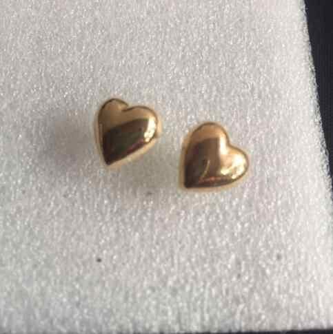 Ey1108 Nova moda 2018 Coreano amor heart-shaped Praça Geometria Pentagrama liga de Metal moda feminina brincos pequenos 1 par