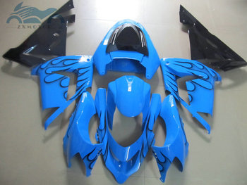 Upgrade your Motorcycle fairings kit for Kawasaki Ninja 2004 2005 ZX10R aftermarket fairings kit 04 05 ZX-10R light blue BK56