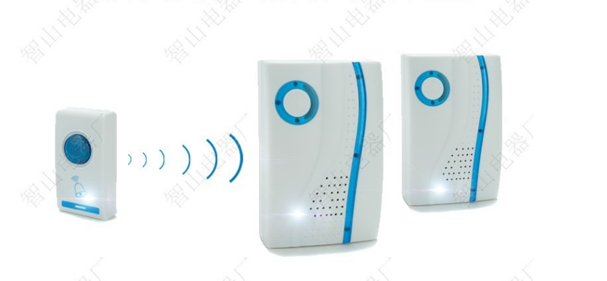 One to Two House Building Wireless Digital Flashing LED Doorbell 32 Chimes Music Room Office Gate Door bell +2 Digital Receiver цена