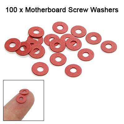 MYLB-SODIAL(R) 100PCS Red Motherboard Screw Insulating Fiber Washers xm l t6 led flashlight torch light zoomable 5 mode led flash light 4000lm linterna led lanterna 18650 rechargeable battery