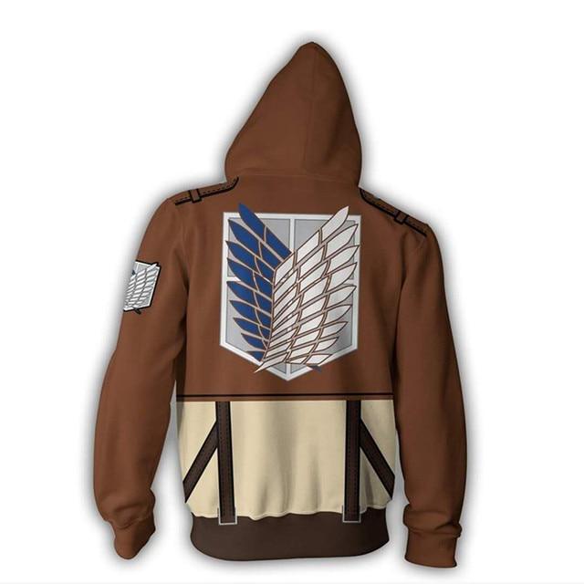 Anime Attack On Titan Jacket Zipper Hoodie
