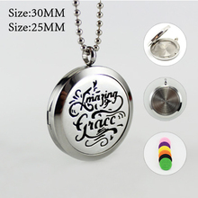 1PC 25/30MM Aromatherapy Jewelry Essential Oil Diffuser Locket Necklace