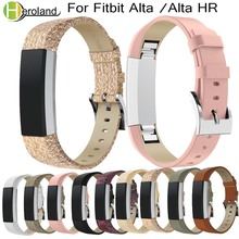 Luxury Genuine LeatherWatch Band Replacement Strap Bracelet For Fitbit Alta/Alta HR Tracker Smart Watch Wristband Bracelet Strap lnop sport watch strap for fitbit alta alta hr band replacment bracelet silicone breathable wristband smart tracker accessories