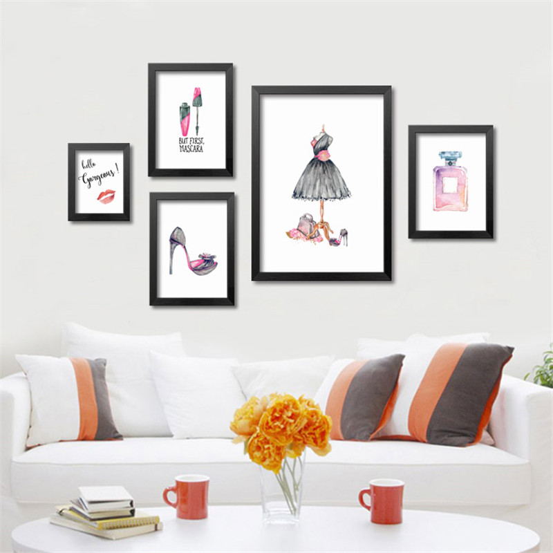 Buy modern fashion trendy girls art prints watercolor abstract prints wall - Trendy home decor stores plan ...
