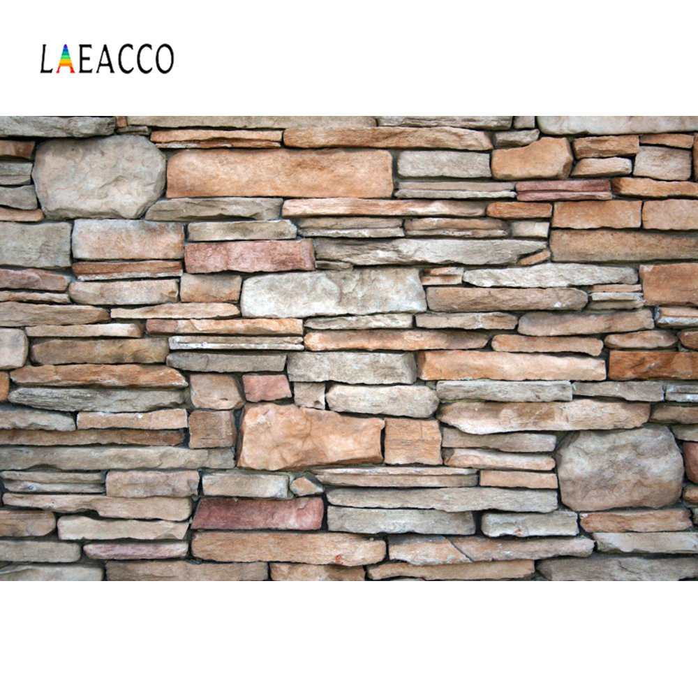 Laeacco Old Stone Slate Piled Wall Party Home Decor Pattern Photography Backdrops Photographic Background Photocall Photo Stuido