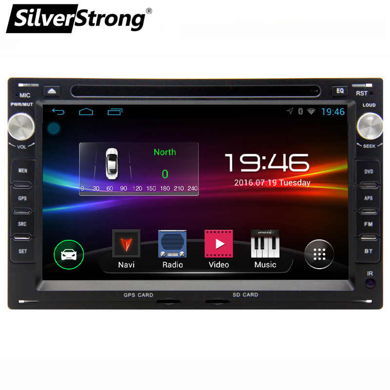 Silverstrong 7 Inch Android9.0 2DIN Auto Dvd Gps Voor Vw Passat B5 B4 Voor GOLF4 Android Dvd Auto 2Din Gps navi Radio