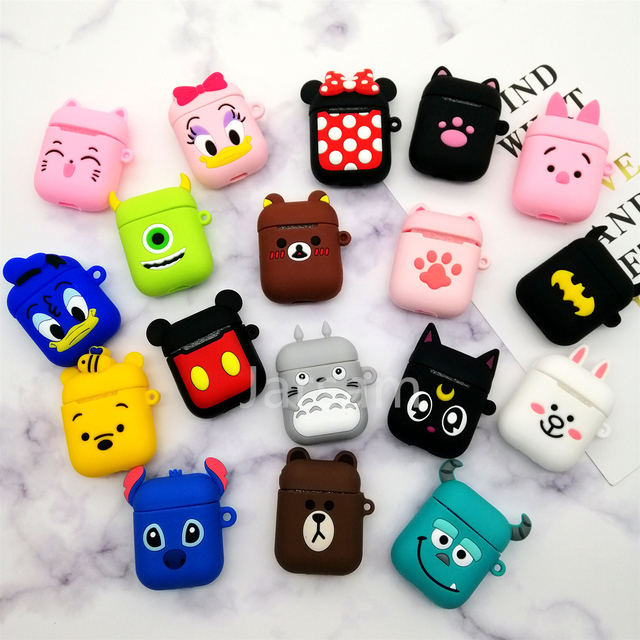 Cute Cartoon Wireless Earphone Case For Apple AirPods 2 Silicone Charging Headphones Case for Airpods