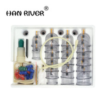 32 pcs massage Vacuum cupping set thicker magnetic aspirating cupping cans acupuncture massage suction cup with tube