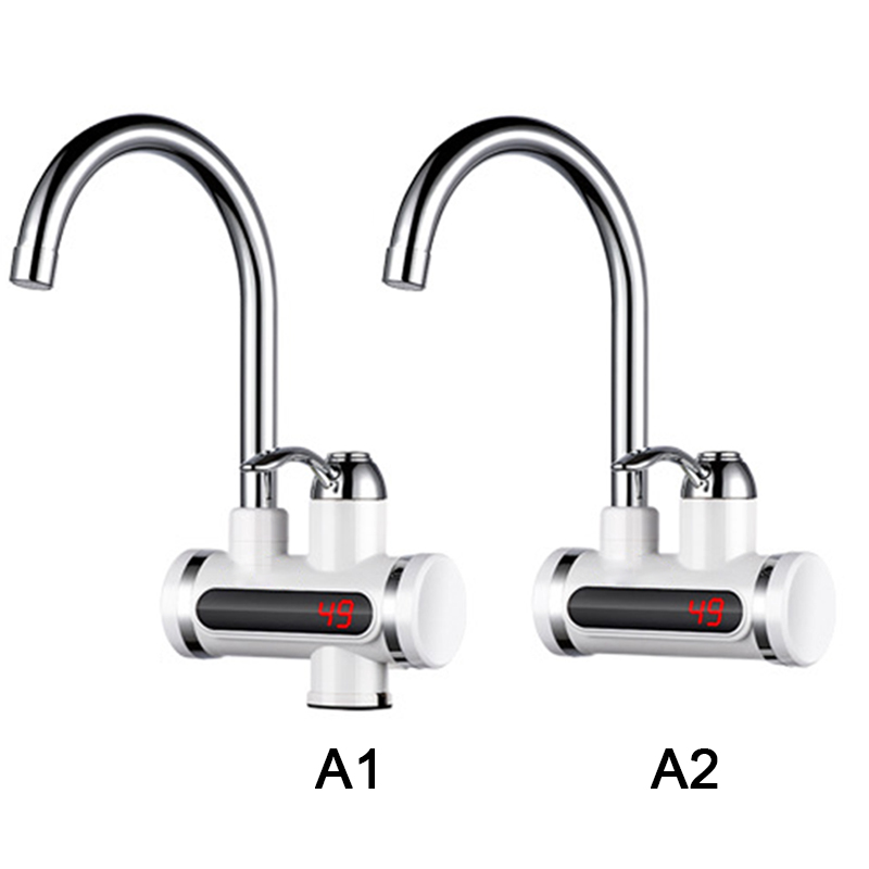 Electric Water Heater Tap Instant Hot Water Faucet Heater Cold Heating Faucet Tankless Instantaneous Water Heater EU Plug