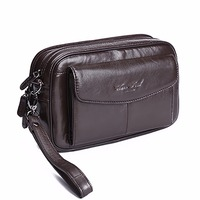 100 Genuine Leather Men Business Cltuch Bags Mobile Phone Case Cigarette Purse Pouch First Layer Cowhide