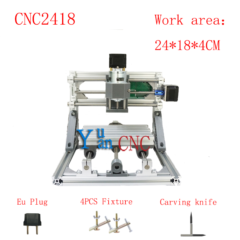 CNC 2418 GRBL control Diy CNC machine,working area 24*18*4cm,3 Axis PCB PVC Milling machine,Wood Router,Carving Engraver