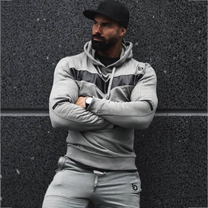 Mens tracksuit Set Joggers Suits Male (20)