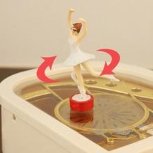 Top Music Boxes Clockwork Type Rotary Classical Ballerina Girl On The Piano Ballerina Music Box for Children birthday Gifts