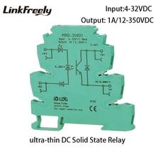 MRD-350D1 LED Indication 1A Input: 5V 12V 24V DC Output: 12-350V DC SSR Interface Module Relay DIN Rail Solid State Relay Switch