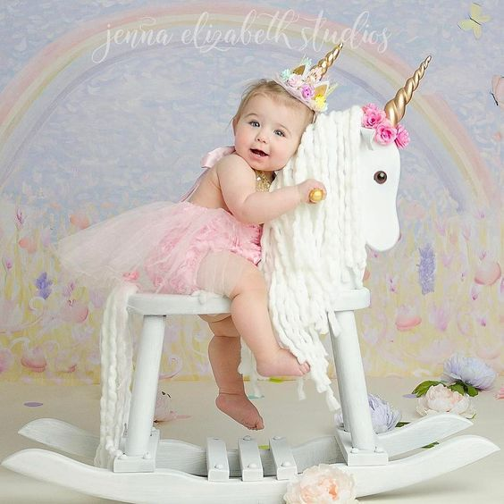 10PC pop glitte Unicorn Headband Girls And Kids 2017 Felt Unicorn Horn  Headband Crown flowers Unicorn Party Hair Accessories 10a945b69aa