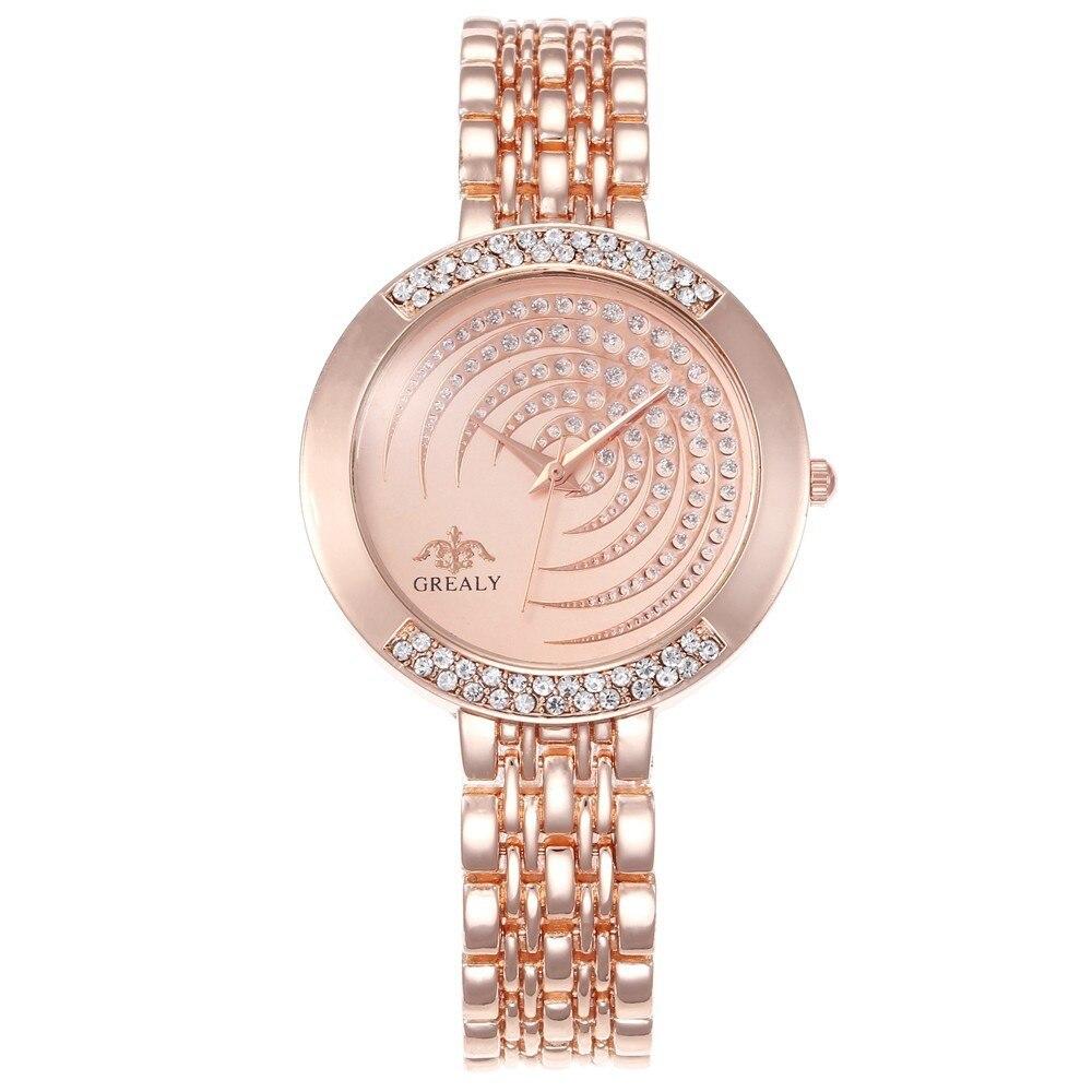 Hot Brand Luxury Bracelet Women Watches Fashion Quartz Crystal Rhinestone Watch Ladies Casual Dress Sport WristWatch Reloj Mujer