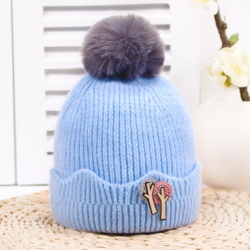 Colorful Knit Winter Hats For Girls   Beanies   Hats Kids Cap Children Bonnet Hats Pompom Warm   Skullies     Beanies   Cap Gorres